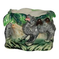 Laughing Camel Vase or Flower Pot Hand Decorated Shafford