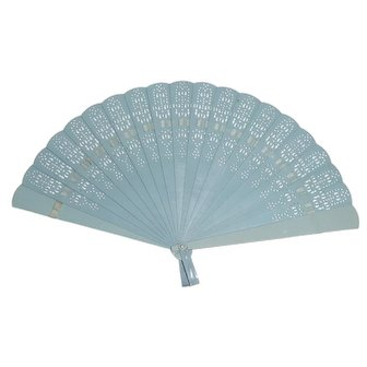 Child Sized Vintage Plastic and Ribbon Hand Fan