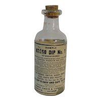 Parke Davis Vintage Dreso Dip No. 1 Empty Sample Bottle with Original Cork