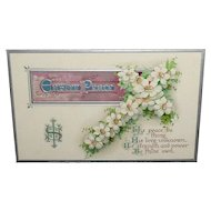 Easter Peace Embossed Vintage Postcard B B London Series