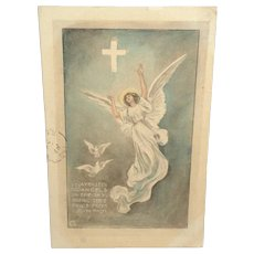 c1915 Easter Postcard 'May Easter Angels In The Sky'