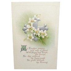 'My Easter Prayer' Vintage B. B. London Series Easter Postcard