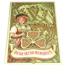 """Dear Irish Memories"" Vintage St. Patrick's Day Postcard"