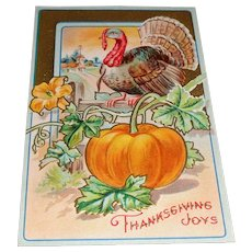 """Thanksgiving Joys"" Vintage Postcard Thanksgiving Series No. 7"