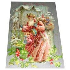 """""""A Joyful Christmas"""" Vintage Postcard Printed in Germany"""