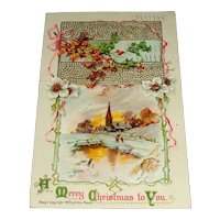 """""""A Merry Christmas to You"""" Postcard No. 201 Printed in Germany"""