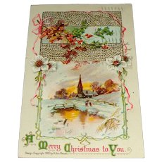 """A Merry Christmas to You"" Postcard No. 201 Printed in Germany"