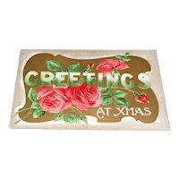 """Greetings At Xmas"" Series No. C. 19. BB London Christmas Postcard"