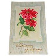 """Christmas Greetings"" c1912 Embossed Christmas Postcard Series 212 E"