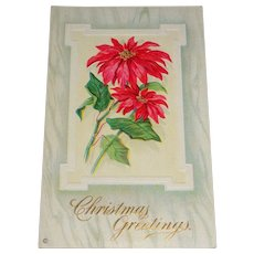 """Christmas Greetings"" c1912 Embossed Christmas Postcard Series 212 E"