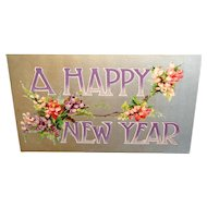 """""""A Happy New Year"""" c1914 Stanley E Mullen & Co. New Year's Postcard"""