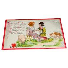 """Little Nursery Lovers"" No.9 TUCK'S Valentine Postcard"