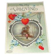 Hearts and Flowers B. B. London Valentine's Postcard