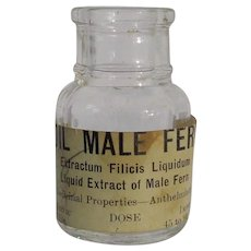 Vintage Medicinal Liquid Extract of Male Fern