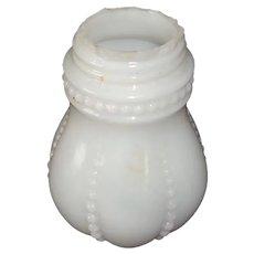Miniature Vintage Milk Glass Oil Lamp Base