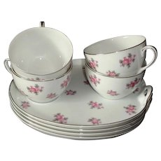 Noritake Set of 4 Vintage Luncheon or Snack Sets
