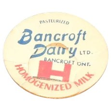 Bancroft Dairy Ltd. Homogenized Milk Pog or Cap