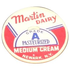 Martin Dairy Medium Cream Bottle Pog or Cap