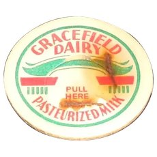 Gracefield Dairy Pasteurized Milk Cardboard Pog or Bottle Cap