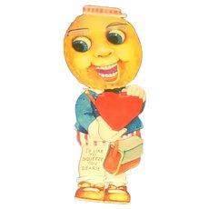 Vintage Mechanical Valentine Greeting Card Blink and Grin