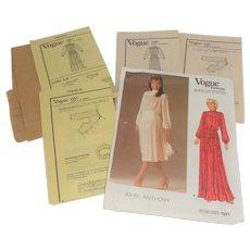 1985 Vogue Pattern 'American Designer' John Anthony Size 12