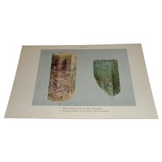 Beryl Crystal, N. Hampshire, Emerald Crystal, N. Carolina Color Plate
