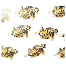 51 Vintage Cat Stickers 1 1/8 inch