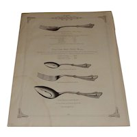 Simpson, Hall, Millers & Co. 1878 Double Sided Price Book Page