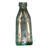 M. Barr, A. Clough, Baildon Light Aqua Bottle Inside Thread