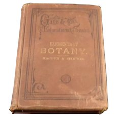 1882 Elementary Botany Gage & Co. Educational Series