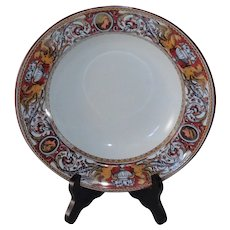"Minton Florentine Red Soup/Stew 9"" Bowl"