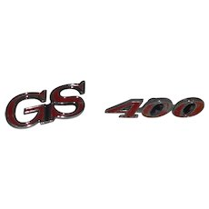 "Vintage Buick ""GS"" and 400 Emblems Grill or Quarter Panel"