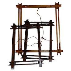 3 Artisan/Handmade  Cedar Picture Frames