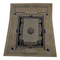 Vintage Needlecraft Magazine January 1926