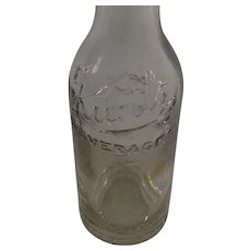 Vintage Clear Glass Kuntz 6 1/2oz. Bottle, First For Thirst