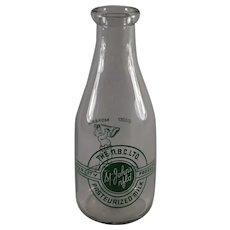St. John's Newfoundland 1qt. Milk Bottle, The N.B.C., LTD.