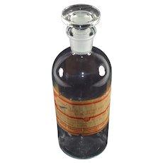 Vintage Apothecary Poison Bottle, Drug Trading Company, Toronto
