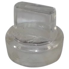 "Vintage Clear Glass Apothecary Jar/Bottle Stopper "" 4 """