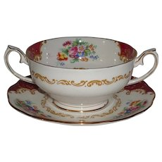 Canterbury by Royal Albert Bullion Cup & Saucer