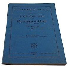 Ontario Department of Health Annual Report 1931