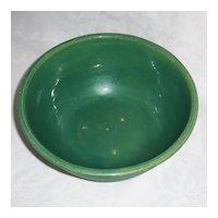Ridged 9 inch Medalta Green Mixing Bowl