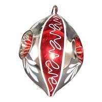 """6"""" 3 Indent Christmas Tree Decoration Blown Glass"""