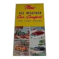 Vintage 1940's Advertising Pamphlet for Chryco Air Control Chrysler Corp.