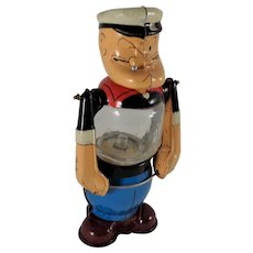 Popeye Child's Toy Battery Lantern Linemar Toys Japan