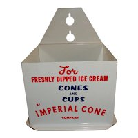 Vintage Imperial Cone Company Cone & Cup Dispenser