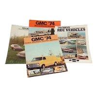 1974 GMC/CHEV 4 Promotional Pamphlets Rec, Vans, Wagons