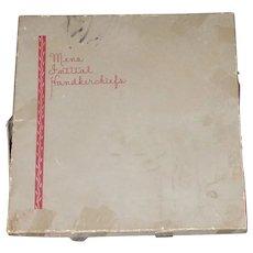 """2 Sets of 4 Men's Initial Handkerchiefs """"B"""" Never Used Linen Ireland"""