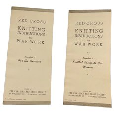 WWII Red Cross War Work No. 1 & 2 Knitting Instructions