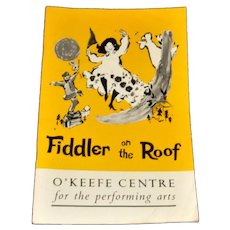 O'Keefe Centre Program November 19, 1966 Fiddler on the Roof