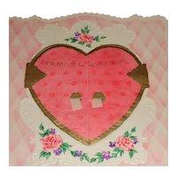 """'Door To Your Heart' Vintage Valentine 7 1/2"""" x 7 1/2"""""""
